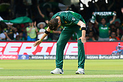 Wicket - Shaheen Afridi of Pakistan celebrates taking the wicket of Mohammad Saifuddin of Bangladesh during the ICC Cricket World Cup 2019 match between Pakistan and Bangladesh at Lord's Cricket Ground, St John's Wood, United Kingdom on 5 July 2019.