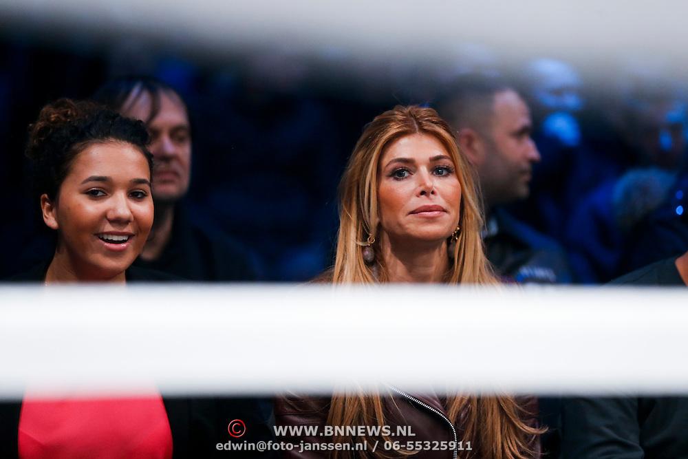 CRO/Zagreb/20130315- K1 WGP Finale Zagreb, Estelle Cruijff en dochter Joelle Gullit