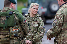 MAY 08 2014 Countess of Wessex visit 5th Rifles