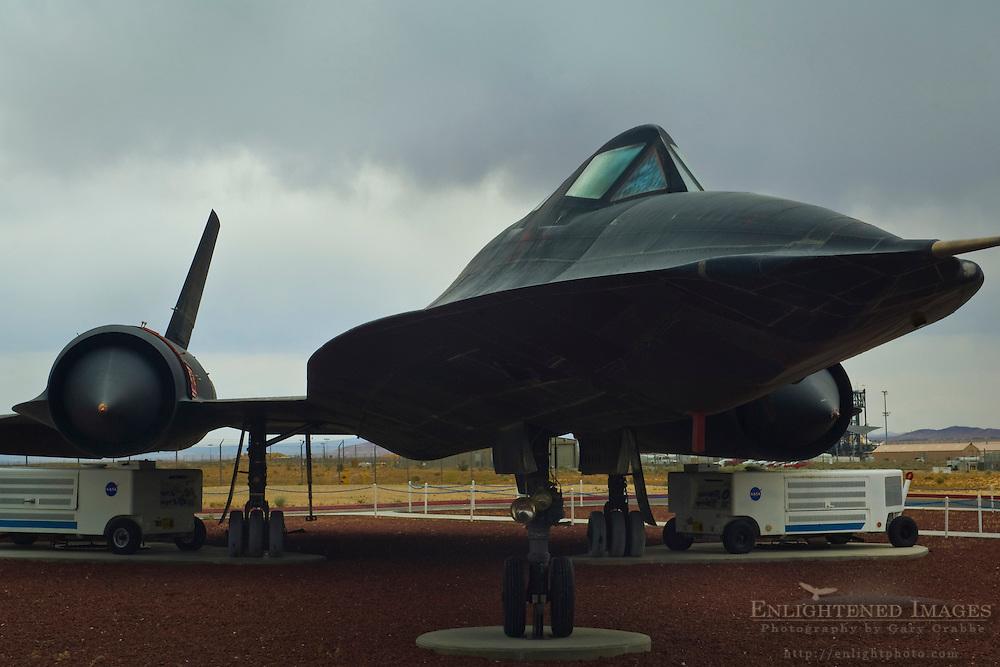 SR-71 Blackbird on display at NASA Dryden Flight Research Center; Edwards Air Force Base; near Mojave; California