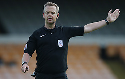 """Referee Chris Sarginson during the pre-season friendly match at Vale Park, Stoke. PRESS ASSOCIATION Photo. Picture date: Tuesday August 1, 2017. See PA story SOCCER Port Vale. Photo credit should read: Nick Potts/PA Wire. RESTRICTIONS: EDITORIAL USE ONLY No use with unauthorised audio, video, data, fixture lists, club/league logos or """"live"""" services. Online in-match use limited to 75 images, no video emulation. No use in betting, games or single club/league/player publications."""