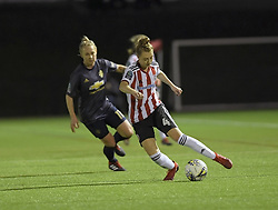 February 20, 2019 - Sheffield, United Kingdom - Ball control from Sheffield United's Jade Pennock during the  FA Women's Championship football match between Sheffield United Women and Manchester United Women at the Olympic Legacy Stadium, on February 20th Sheffield, England. (Credit Image: © Action Foto Sport/NurPhoto via ZUMA Press)