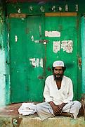 Muslim man in the Muslim part of Nagore town, near Nagapattinam.
