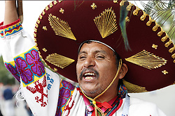 fan of Mexico in traditional clothing