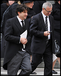 Conservative Party Chairman Andrew Feldman (left) attends Lady Thatcher's funeral at St Paul's Cathedral following her death last week, London, UK, Wednesday 17 April, 2013, Photo by: Andrew Parsons / i-Images