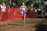 Dec 8, 2018; Balboa Park, CA, USA; Katelynne Hart of Glenbard West (Ill.) places second in the girls race in 17:01.0 during the 40th Foot Locker cross country championships at Morley Field.
