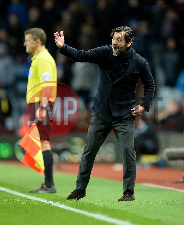 Watford Manager Quique Flores - Mandatory byline: Alex James/JMP - 28/11/2015 - Football- Aston Villa  - Birmingham, Watford  - Aston Villa v Watford - Barclays Premiership