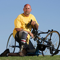 Executive portrait, Stephen Bruggeman, Veterans Administration sports clinic participant.