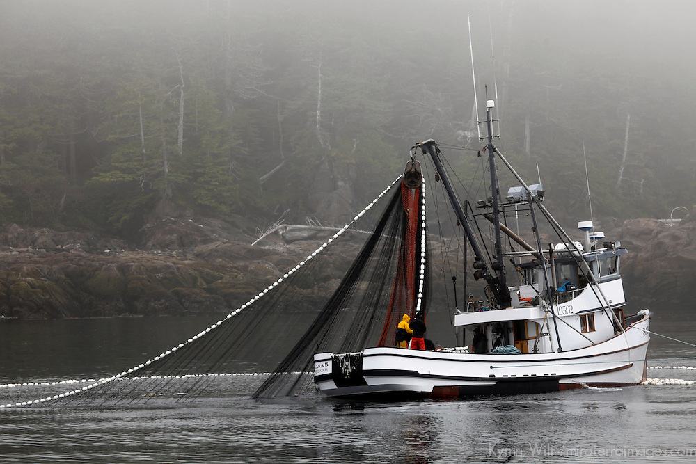 North America, USA, Alaska. Fishing Boat near Ketchikan.
