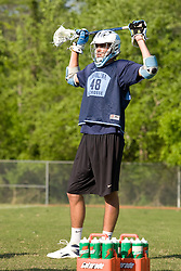 02 May 2008: North Carolina men's lacrosse midfielder Cryder DiPietro (48) during practice on Finley Fields in Chapel Hill, NC.