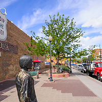 """041615       Cable Hoover<br /> <br /> The """"Standin' on the Corner"""" monument in Winslow is a tribute the Eagles song """"Take it Easy."""""""