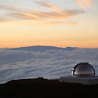 Subaru Telescope atop Mauna Kea at Sunset