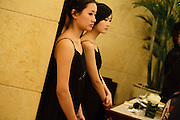 Hostesses waiting during the China Fashion Week 2010 - Dorian Ho Collection - March 28 in the Beijing Hotel.
