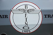 Boeing logo on side of Boeing 40.
