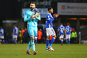 Ipswich Town's Bartosz Bialkowski applauds the fans during the EFL Sky Bet Championship match between Ipswich Town and Burton Albion at Portman Road, Ipswich, England on 10 February 2018. Picture by John Potts.