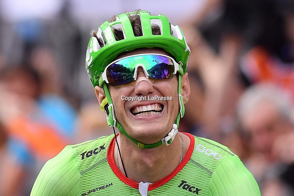 Foto LaPresse - Gian Mattia D'Alberto<br /> 24/05/2017  Canazei (Italia)<br /> Sport Ciclismo<br /> Giro d'Italia 2017 - 100a edizione -  Tappa 17 - da Tirano a Canazei (Val di Fassa) -  219 km ( 136 miglia )<br /> Nella foto: ROLLAND Pierre ( FRA )( Cannondale-Drapac Pro C.T. ) , vincitore di tappa<br /> <br /> Photo LaPresse - Gian Mattia D'Alberto<br /> May 24, 2017 Canazei ( Italy ) <br /> Sport Cycling<br /> Giro d'Italia 2017 - 100th edition -  Stage 17  - Tirano to Canazei (Val di Fassa) - 219 km ( 136 miles )<br /> In the pic: ROLLAND Pierre ( FRA )( Cannondale-Drapac Pro C.T. ) , winner of the stage