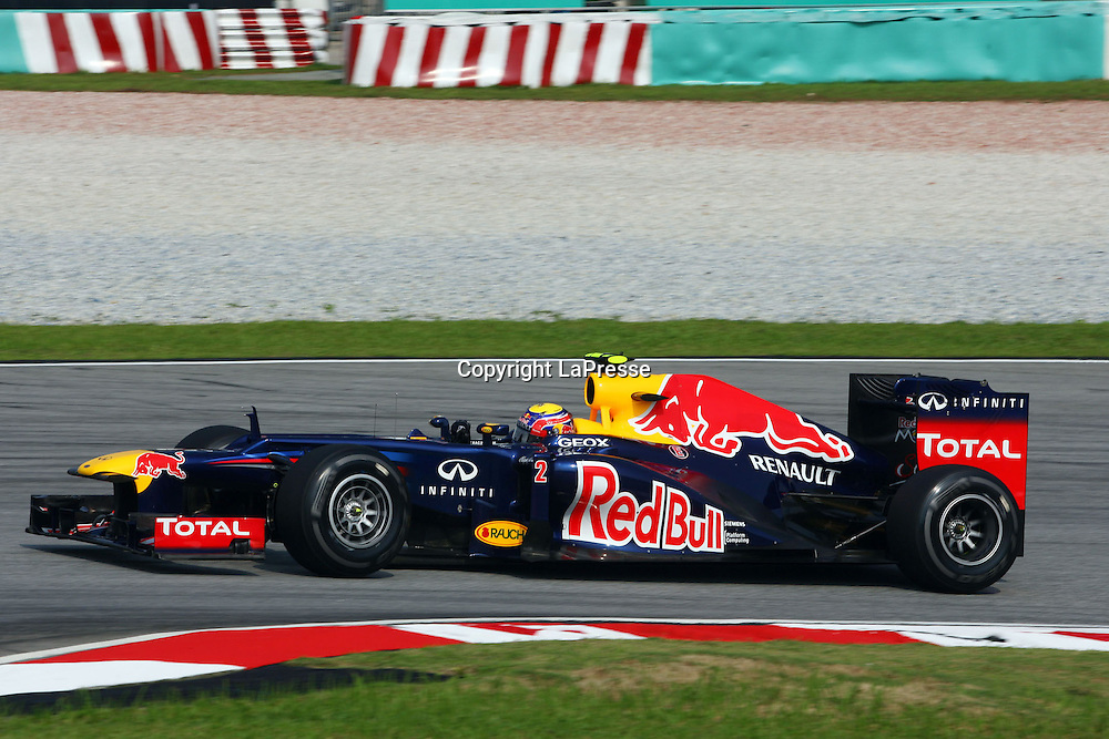 &copy; Photo4 / LaPresse<br /> 23/3/2012 Sepang<br /> Malaysian Grand Prix, Sepang 2012<br /> In the pic: Mark Webber (AUS), Red Bull Racing, RB8