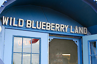 The entrance to Wild Blueberry Land, a roadside attraction in Downeast Maine.