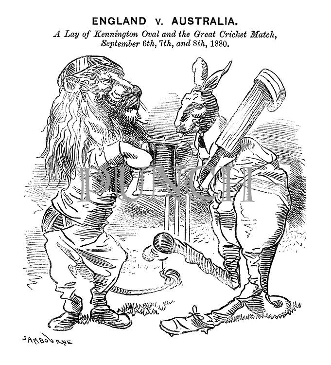 England v. Australia. A Lay of Kennington Oval and the Great Cricket Match, September 6th, 7th, and 8th, 1880.