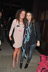Left to right, TARA SMITH and NATALIE IMBRUGLIA at a party to celebrate the launch of the Tara Smith Vegan Haircare range held at Sketch, 9 Conduit Street, London on 26th September 2012.