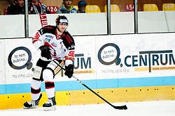 07.10.2012, Hostan Arena, Znojmo, CZE, EBEL, HC Orli Znojmo vs HDD Olimpija Ljubljana, 10. Runde, im Bild # 66. Roznik Juraj  during the Erste Bank Icehockey League 10nd round match betweeen HC Orli Znojmo and HDD Olimpija Ljubljana at the Hostan Arena, Znojmo, Czech Republic on 2012/10/07. EXPA Pictures © 2012, PhotoCredit: EXPA/  Rostislav Pfeffer