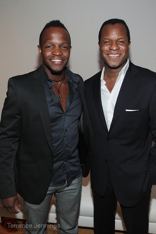 27 April 2011- New York,  NY-  l to r: Quasim Basir and Geoffrey Fletcher at The Blackhouse Foundation celebrates Tribeca Film Institute's 2011 TAA Participants w/ Oscar Winner Geoffrey Fletcher held the Helen Mills Event Space on April 27, 2011 in New York City. Photo Credit: Terrence Jennings