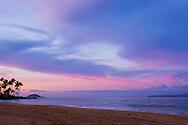 A peaceful sunset on a Hawaiian beach
