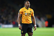 Portrait of Wolverhampton Wanderers forward Adama Traore in action during the Europa League match between Wolverhampton Wanderers and Espanyol at Molineux, Wolverhampton, England on 20 February 2020.