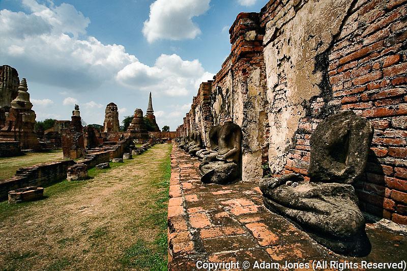 Ruins of Wat Yai Chaya Mongkol or The Great Temple of Auspicious Victory, Ayutthaya, Thailand