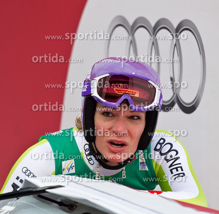 13.02.2011, Kandahar, Garmisch Partenkirchen, GER, FIS Alpin Ski WM 2011, GAP, Damen Abfahrt, im Bild dritte, bronze Medaille Maria Riesch (GER) // third, bronze Medal Maria Riesch (GER) during womens Downhill, Fis Alpine Ski World Championships in Garmisch Partenkirchen, Germany on 13/2/2011, 2011, EXPA Pictures © 2011, PhotoCredit: EXPA/ J. Feichter