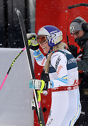 08.02.2019, WM Strecke, Aare, SWE, FIS Weltmeisterschaften Ski Alpin, alpine Kombination, Abfahrt, Damen, im Bild Lindsey Vonn (USA) // Lindsey Vonn (USA) reacts after the downhill competition of Alpine combination of the ladie's of FIS Ski World Championships 2019. WM Strecke in Aare, Sweden on 2019/02/08. EXPA Pictures © 2019, PhotoCredit: EXPA/ SM<br /> <br /> *****ATTENTION - OUT of GER*****
