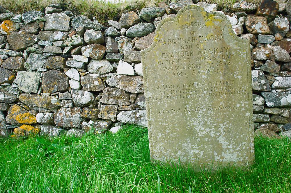 Gravestone of Farquhar MacKay, St. Clements Church