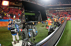 3d camera during the 2010 FIFA World Cup South Africa Group H Second Round match between Spain and Honduras on June 21, 2010 at Ellis Park Stadium, Johannesburg, South Africa.   (Photo by Vid Ponikvar / Sportida)