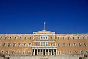 Griekenland, Athene, 5-7-2008Het parlementsgebouw.Foto: Flip Franssen