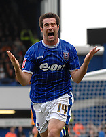 Photo: Ashley Pickering.<br /> Ipswich Town v Wolverhamptopn Wanderers. Coca Cola Championship. 27/10/2007.<br /> Alan Lee celebrates the opener for Ipswich