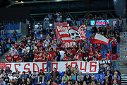DESCRIZIONE : Pesaro Lega A 2014-15 Consultinvest Pesaro Giorgio Tesi Group Pistoia<br /> GIOCATORE : tifosi<br /> CATEGORIA : tifosi pesaro<br /> SQUADRA : Consultinvest Pesaro Giorgio Tesi Group Pistoia<br /> EVENTO : Campionato Lega A 2014-2015 <br /> GARA : Consultinvest Pesaro Giorgio Tesi Group Pistoia<br /> DATA : 26/04/2015 <br /> SPORT : Pallacanestro <br /> AUTORE : Agenzia Ciamillo-Castoria/C.De Massis<br /> Galleria : Lega Basket A 2014-2015<br /> Fotonotizia : Pesaro Lega A 2014-15 Consultinvest Pesaro Giorgio Tesi Group Pistoia