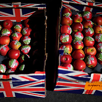 Apples are supplied to delegates during the Labour Party Conference at the ACC Liverpool.