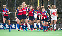 BILTHOVEN - hoofdklasse competitie dames, SCHC-Amsterdam (1-3). Stichtse heeft gescoord.  oa Xan de Waard (SCHC) , Caia van Maasaker (SCHC) ,Ginella Zerbo (SCHC)  Natalie Sourisseau (SCHC) .  COPYRIGHT KOEN SUYK
