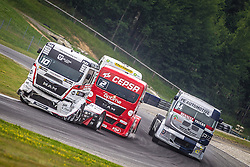 07.07.2013, Red Bull Ring, Spielberg, AUT, Truck Race Trophy, Renntag 2, im Bild Norbert Kiss, (HUN, Oxxo Energy Truck Race Team, #10), Antonio Albacete, (ESP, Equipo Cepsa, #2), Jean-Pierre Blaise, (BEL, 2CVRT, #14) // during the Truck Race Trophy 2013 at the Red Bull Ring in Spielberg, Austria, 2013/07/07, EXPA Pictures © 2013, PhotoCredit: EXPA/ M.Kuhnke