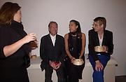 Michael  White and Jessica de Rothschild, Almeida Gala evening, Victoria Miro Gallery, 13 May  2003. © Copyright Photograph by Dafydd Jones 66 Stockwell Park Rd. London SW9 0DA Tel 020 7733 0108 www.dafjones.com