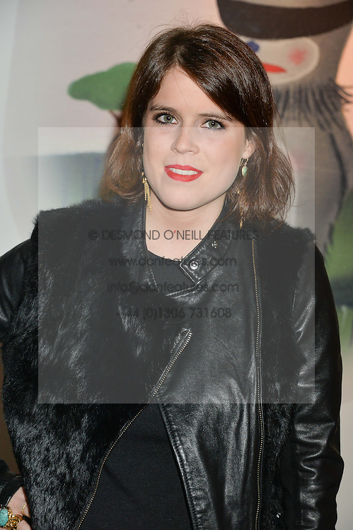 PRINCESS EUGENIE OF YORK at the Future Contemporaries Party in association with Coach at The Serpentine Sackler Gallery, West Carriage Drive, Kensington Gardens, London on 21st February 2015.