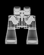 Binoculars under x-ray side view