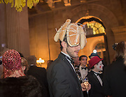 TIM TYLER-SMYTH, Ball at to celebrateBlanche Howard's 21st and  George Howard's 30th  birthday. Dress code: Black Tie with a touch of Surrealism. Castle Howard. Yorkshire. 14 November 2015