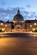 Amalienborg Royal Palace in Copenhagen, Denmark