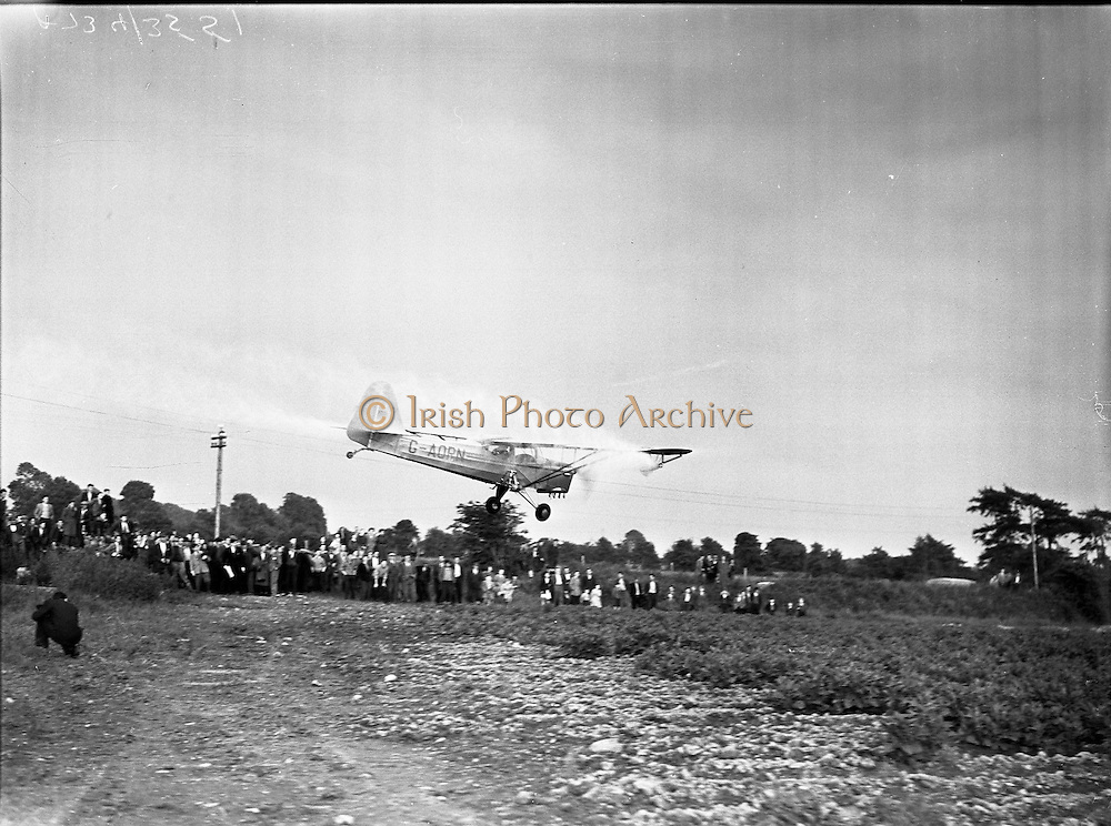 Demonstration of Spraying Potatoes from the air - Finglas.27/06/1958