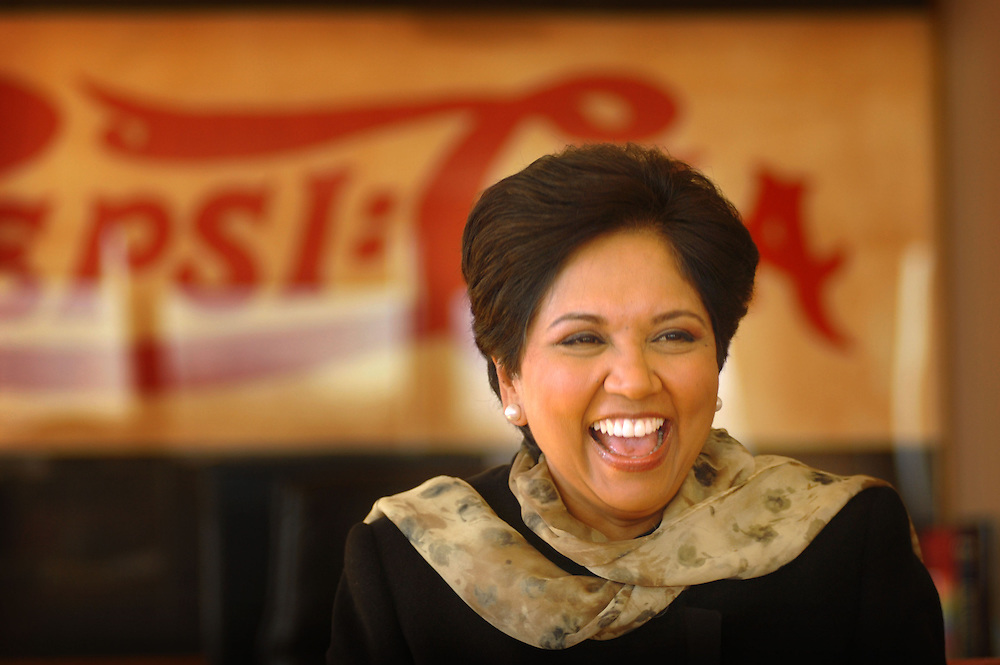 Indra Nooyi is the chairman and chief executive officer of PepsiCo, the world's fourth-largest food and beverage company. According to the polls Forbes magazine conducted, Nooyi ranks fifth on the 2007 list of The World's 100 Most Powerful Women.