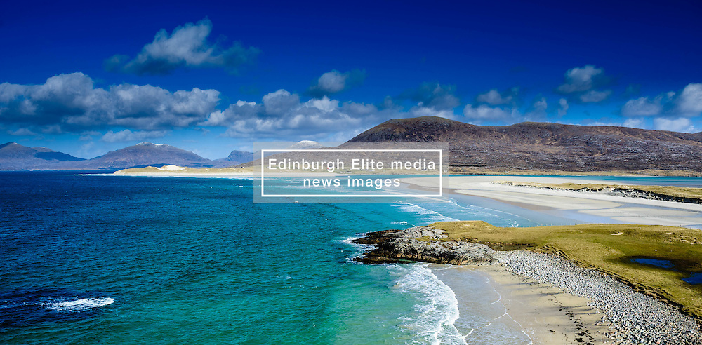 The beach at Seilebost, Isle of Harris, Outer Hebrides, Scotland.  The island of Taransay can be see on the left in the background<br /> <br /> (c) Andrew Wilson | Edinburgh Elite media