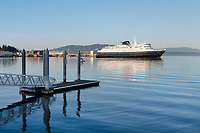 Alaska Ferry in Bellingham Bay on a calm morning, Washington