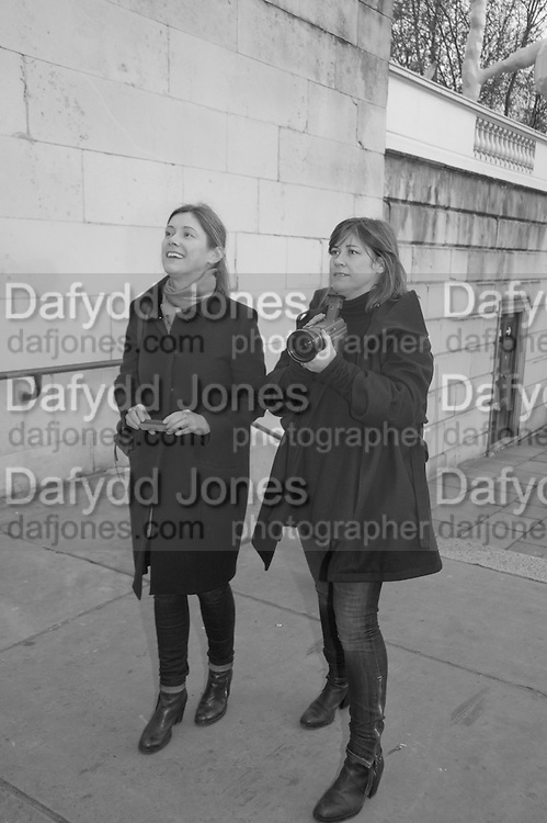 JANE AND LOUISE WILSON, INTERCOURSE: Re-enacting Eisenstein: The Odessa Steps Sequence from Battleship Potemkin<br /> Jane and Louise Wilson directed the re-enactment on the steps outside the ICA. 26 November 2011.