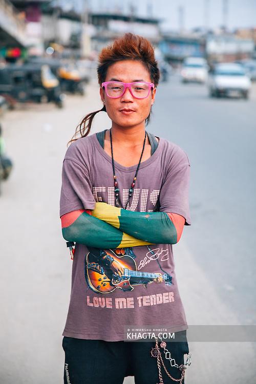 Portrait of Jonny, a resident of Itanagar, the capital of Arunachal Pradesh
